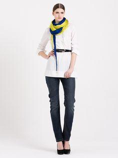 simple fashion white shirt