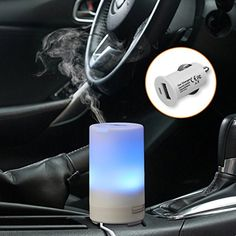 Car Essential Oil Diffuser CRDC Life Portable USB Car Charger Aroma Humidifier 3 Timer Mode Colorful LED Light Auto Shut Off Air Purifier for Car Office Travel Rooms *** You can find more details by visiting the image link. Appliance Sale, Appliance Repair, Appliance Parts, Essential Oil Diffuser, Essential Oils, Room Wanted, Car Essentials, Car Office, Humidifier