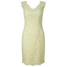 Buy Jacques Vert Petite V-Neck Lace Dress, Mint Online at johnlewis.com