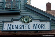 Photo Tour: Memento Mori Haunted Mansion Specialty Shop in Disney World's Magic Kingdom Disney Parks, Walt Disney World, Disney Food, Disney Stuff, Disney World Magic Kingdom, Disney Magic, Haunted Mansion Halloween, Creepy Images, Memento Mori