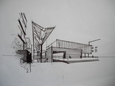 I like the two point perspective used here as it works well with the shading used to give it more of an 3d atmosphere, I also find the fact it is more of an architectural sketch rather than just based on perspective like others are. This makes it unique and gives it a nice clean look to it, obviously it is professional.