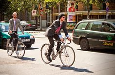 stylish men are going work on bike ;)