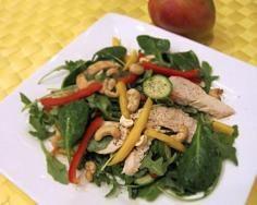 Chicken, Mango Salad #salads #JillsTable Mango Salad, Salads, Meat, Chicken, Recipes, Food, Beef, Meal, Food Recipes