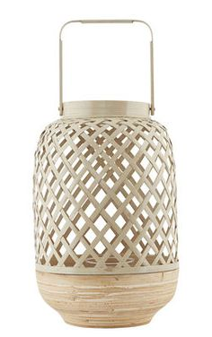 Breeze Large Candle holder - Bamboo / Ø 20 x H 30 cm by House Doctor