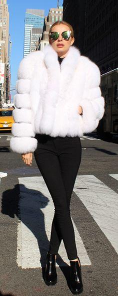 af4eb2a4fb White Fox Fur Bolero Jacket 4256