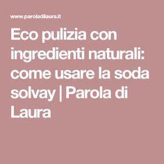 Eco pulizia con ingredienti naturali: come usare la soda solvay | Parola di Laura