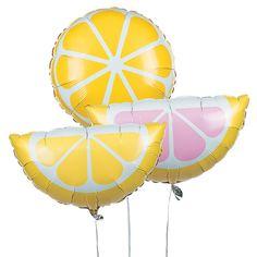 Lemonade Party Mylar Balloons - OrientalTrading.com