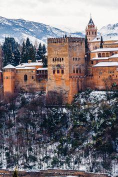 La Alhambra de Granada nevada ,  Spain  por Jesús Ruiz