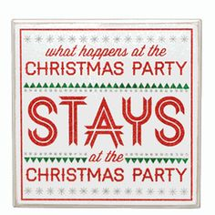 We're going to need this Christmas Party Box Sign for our preschool party....... haha.
