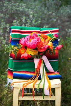 Technicolor Cinco de Mayo Wedding - flowers!