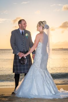 Starring Deeply Into Each Other S Eyes Under The Blissful Sunset Beach Wedding
