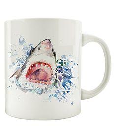 Take a look at this Mug Country Watercolor Shark Ceramic Mug today!