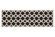 Cece Outdoor Runner, Black/Beige on OneKingsLane.com