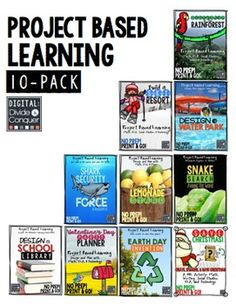 A 10-Pack of Project Based Learning activities!  From snakes and sharks to lemonade and water parks, there is something for everyone. $