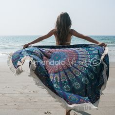 Items similar to Bachelorette Gift Beach Wedding, Beach Bridal Shower Gift, Bohemian Wedding Gift, Round Beach Throw on Etsy Tapestry Beach, Mandala Tapestry, Wall Tapestry, Bridesmaid Gifts From Bride, Blue Bridesmaids, Selfies, Circle Beach Towel, Mandala Throw, Beach Bridal Showers