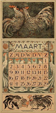 Theodoor van Hoytema, calendar 1913 March