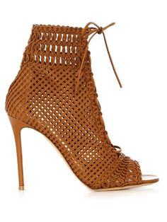 GIANVITO ROSSI Marnie woven-leather ankle boots. #gianvitorossi #shoes #boots