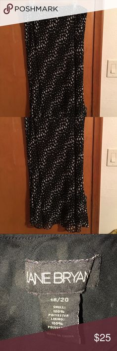 Lane Bryant Polka Dot Maxi Skirt Elastic waist black and white polka dot skirt. Sheer layer over black shell. Excellent condition. Lane Bryant Skirts Maxi