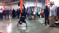 Street Performer and Police Officer Dance Battle!