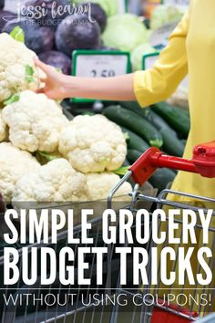 There a lot of little grocery budget tricks out there - some better than others - but these are just some of the simple ways you can use to keep your budget in check without having to use coupons!