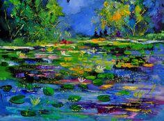 Pond 791180 Painting by Pol Ledent
