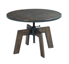 Industrial side table from the Hidden Treasures collection by Hammary. New for #hpmkt Spring 2015.