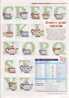 Alfabeto con tazze da thè e teiere (2) -