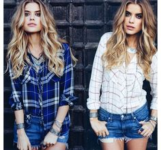 ❤️ the flannel and shorts together!