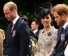 """William, Kate and Harry """"#Somme100"""