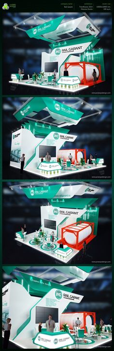 RailGarant exhibition booth design on Behance