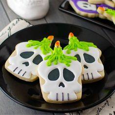 Samain: #Skull #Cookies, for #Samain.