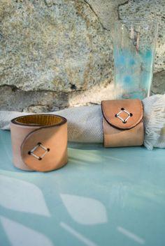 Leather Napkin Rings. $10.00, via Etsy.