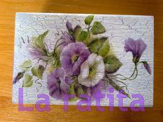 Cajas flores moradas