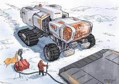 Trying out Ipad Pro using the procreate app Futuristic Technology, Futuristic Cars, Science Fiction, Starship Concept, Space Engineers, Expedition Vehicle, Military Gear, Transportation Design, Sci Fi Art