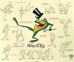 Warner Brothers Limited Editions - Michigan J. Frog Model Sheet