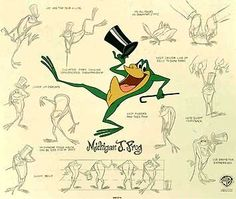 Warner Brothers Limited Editions - Michigan J. Frog Model Sheet