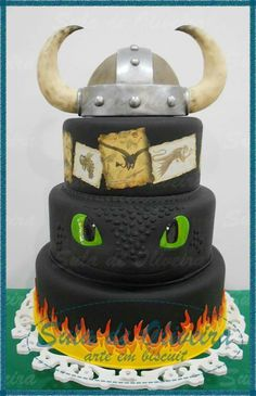 How to train your dragon birthday cake toothless 35 ideas for 2019 Dragon Birthday Cakes, Dragon Birthday Parties, Dragon Cakes, Dragon Party, Cake Birthday, 5th Birthday, How To Train Dragon, How To Train Your, Fancy Cakes