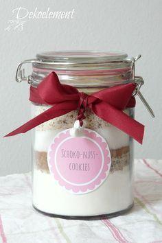Dekoelement: Backmischung für Schoko-Nuss-Cookies