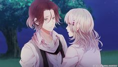 【Diabolik Lovers - Lost Eden】︎︎Laito and Yui CG    WHY IS LAITO CRYING?!?!