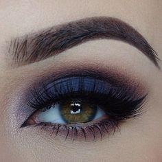 Smokey sapphire blue