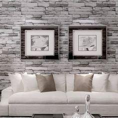 10M 3D Wallpaper Roll PVC Brick Grain Waterproof Wallpaper Natural Wood Pulp Dull Polish Wall Decor - Banggood Mobile