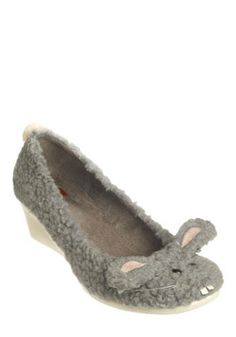 Hop to It Wedge. Quick - get your paws on these adorable wedges before it's too late! #grey #modcloth