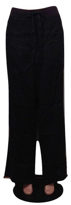 Style & Co. Plus Size 3X Black Linen Wide Leg Comfort Waist NWT #StyleCo #Linen