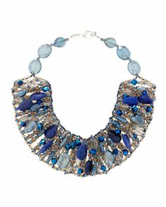 Glass+Crystal+&+Stone+Collar+Necklace,+Blue+by+Panacea+at+Neiman+Marcus+Last+Call.