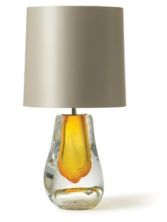 Yellow Art Glass Lamp Courtesy of InStyle-Decor.com Beverly Hills Inspiring & supporting Hollywood interior design professionals and fans, sharing beautiful luxe home decor inspirations, trending 1st in Hollywood Repin, Share & Enjoy
