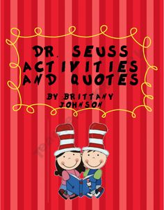 Dr. Seuss activities and quotes