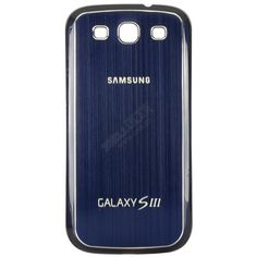 Samsung i9300 Galaxy S III Pebble Blue battery cover with blue metal insert