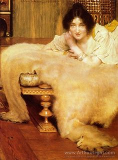 Sir Lawrence Alma-Tadema's oil painting A Listener