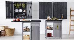 IKEA Olofstorp wall cabinet and island