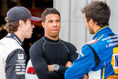 Ryan Blaney, Bubba Wallace, and Chase Elliott